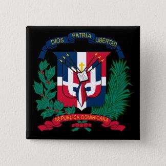 dominican republic emblem pinback button