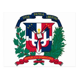 dominican republic emblem postcard