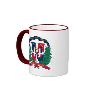 dominican republic emblem ringer mug