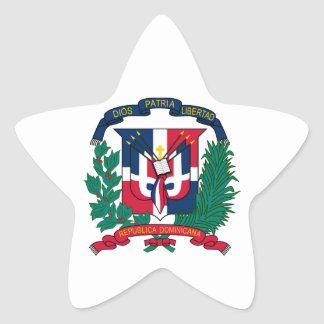 dominican republic emblem star sticker