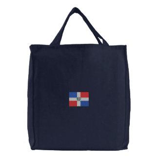 Dominican Republic Embroidered Tote Bag