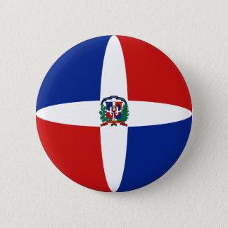 Dominican Republic Fisheye Flag Button