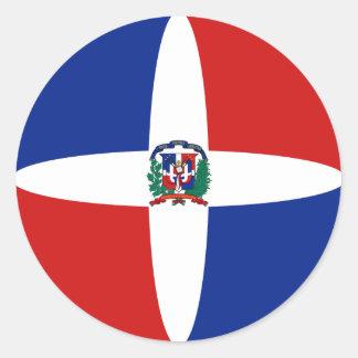 Dominican Republic Fisheye Flag Sticker