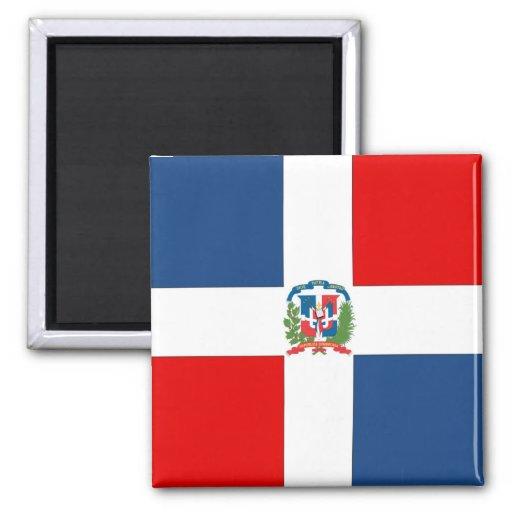 Dominican Republic Flag 2 Inch Square Magnet