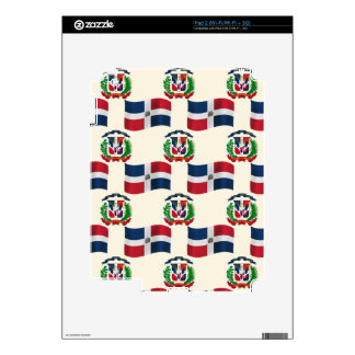 Dominican Republic Flag and Crest Skin For The iPad 2