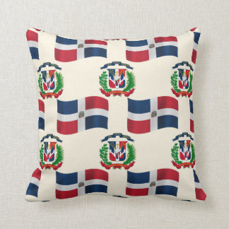 Dominican Republic Flag and Crest Throw Pillow