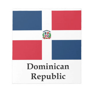 Dominican Republic Flag And Name Memo Note Pad