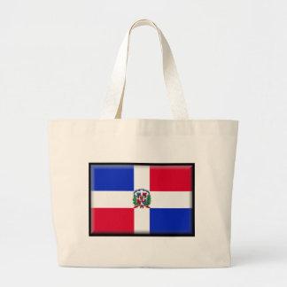 Dominican Republic Flag Canvas Bags