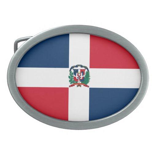 Dominican Republic Flag Belt Buckle