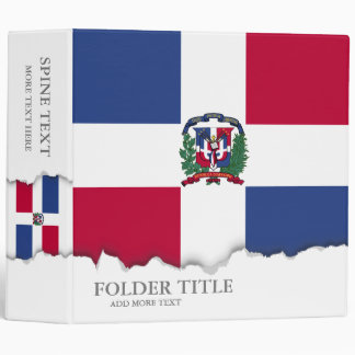 Dominican Republic Flag Binder