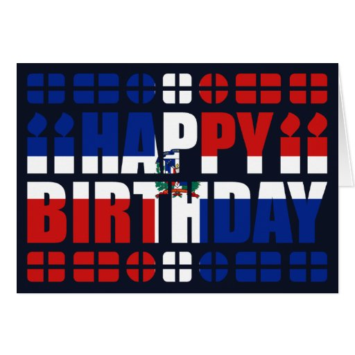 Dominican Republic Flag Birthday Card