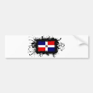Dominican Republic Flag Car Bumper Sticker