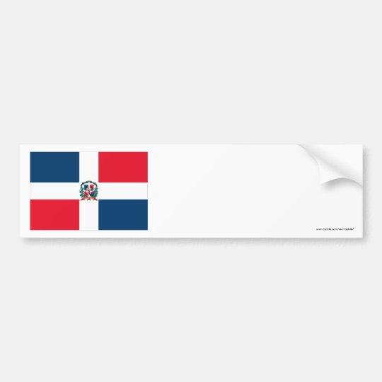 Dominican Republic Flag Bumper Sticker