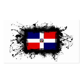 Dominican Republic Flag Business Card