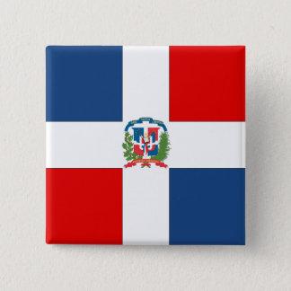 Dominican Republic Flag Button