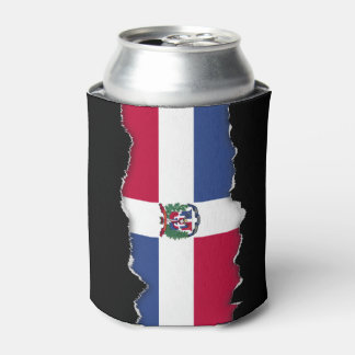 Dominican Republic Flag Can Cooler