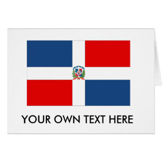 Dominican Republic Flag Greeting Cards