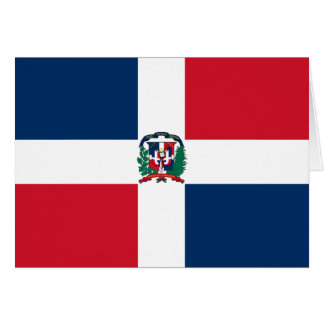 Dominican Republic Flag Card
