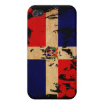 Dominican Republic Flag Cases For iPhone 4