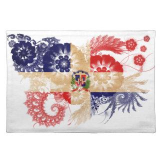 Dominican Republic Flag Cloth Placemat