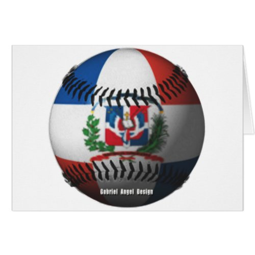 Dominican Republic Flag Covered Baseball