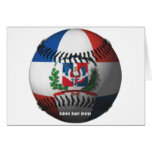 Dominican Republic Flag Covered Baseball Greeting Card
