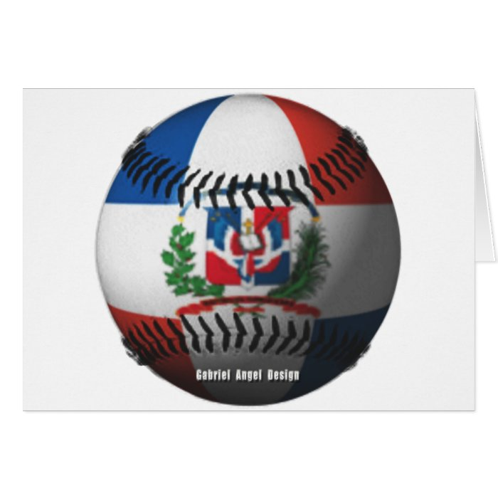 Dominican Republic Flag Covered Baseball Card