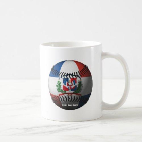Dominican Republic Flag Covered Baseball Coffee Mug