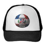 Dominican Republic Flag Covered Baseball Mesh Hat