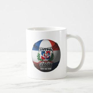Dominican Republic Flag Covered Baseball Classic White Coffee Mug