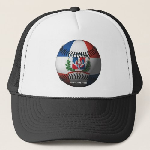 Dominican Republic Flag Covered Baseball Trucker Hat