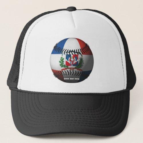Dominican Republic Flag Covered Baseball Trucker Hat