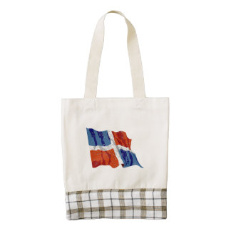 Dominican Republic Flag (Distressed) Zazzle HEART Tote Bag