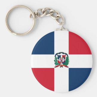 Dominican Republic Flag DO Basic Round Button Keychain