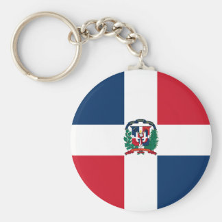 Dominican Republic Flag DO Keychain