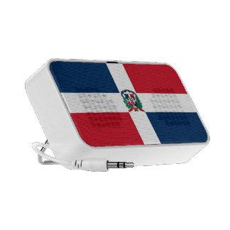 Dominican Republic Flag Doodle Travel Speaker