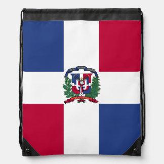 Dominican Republic Flag Drawstring Bag