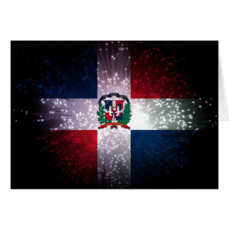 Dominican Republic Flag Firework Card