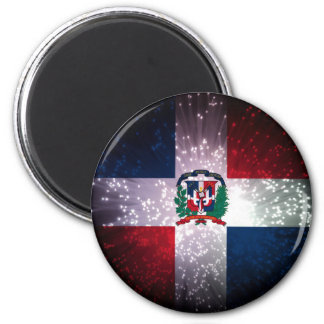 Dominican Republic Flag Firework Fridge Magnets