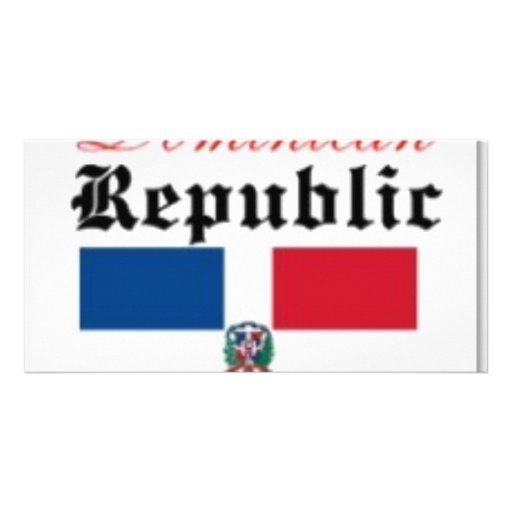 Dominican Republic Flag Gear Custom Photo Card