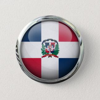 Dominican Republic Flag Glass Ball Button