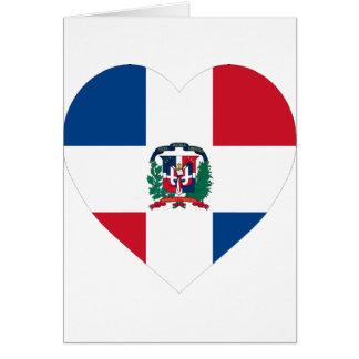 Dominican Republic Flag Heart Card