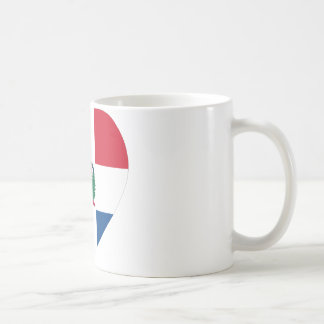 Dominican Republic Flag Heart Coffee Mug