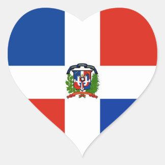 Dominican Republic Flag Heart Sticker