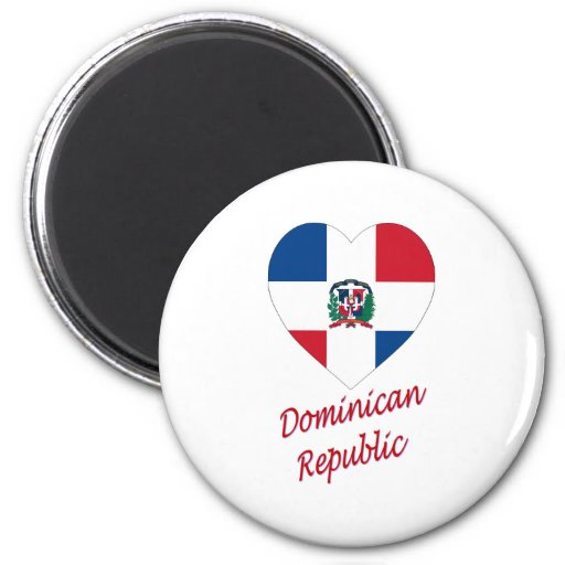 Dominican Republic Flag Heart with Name Refrigerator Magnets