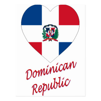 Dominican Republic Flag Heart with Name Postcard