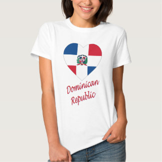 Dominican Republic Flag Heart with Name Tee Shirt
