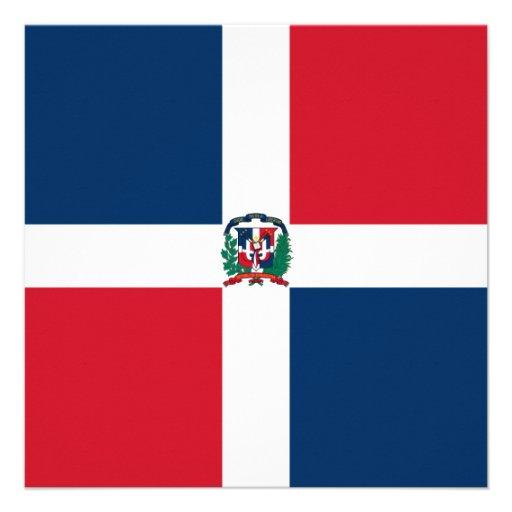 Dominican Republic Flag Invitation