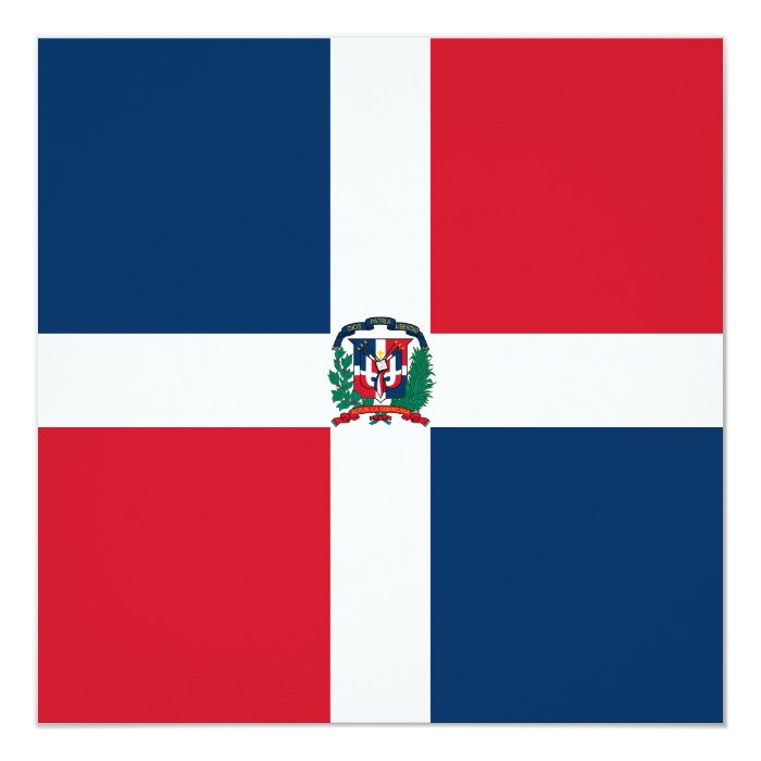 Dominican Republic Flag Invitation