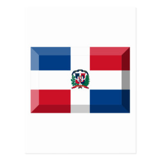 Dominican Republic Flag Jewel Postcard